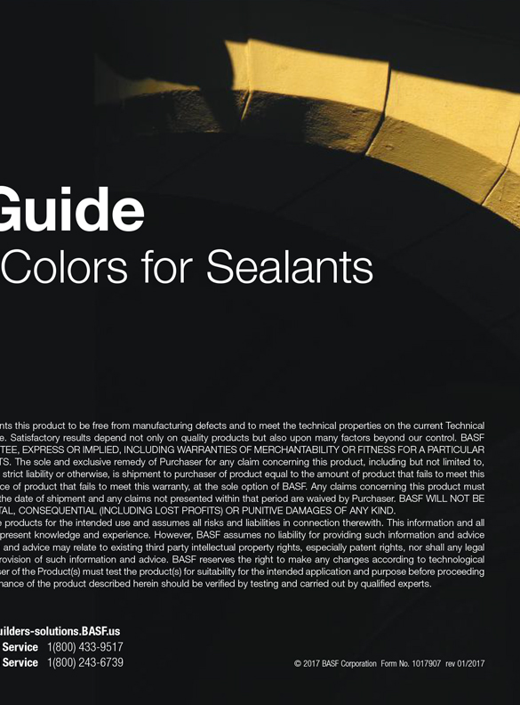 BASF Sealants Color Card