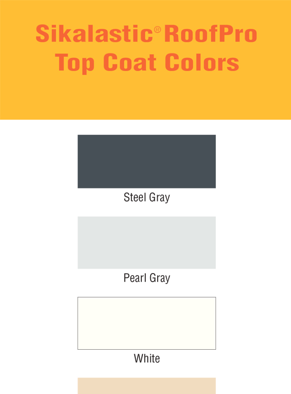 Sikalastic RoofPro Top Coat Color Card - thumb