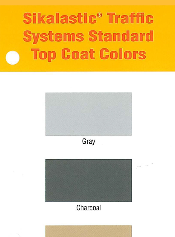 Sikalastic Traffic Systems Top Coat Color Card - thumb