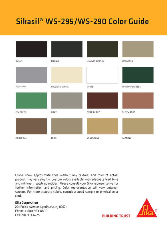 Sikasil WS-290-295 Color Card - thumb