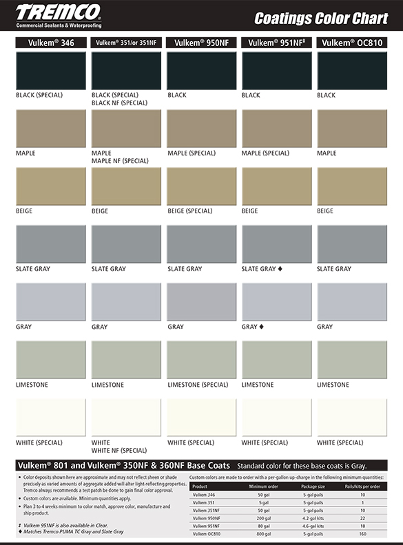 Tremco Coatings Color Card-thumb