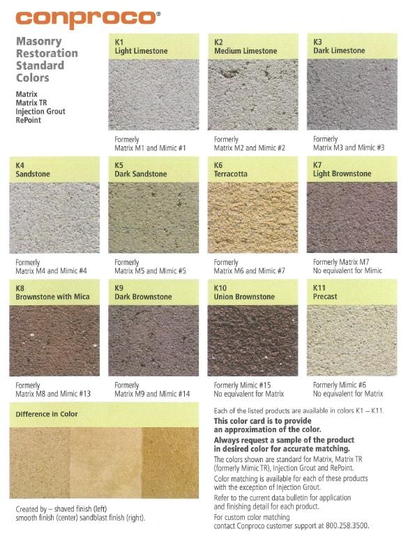 conproco masonry restoration standard colors thumb-min